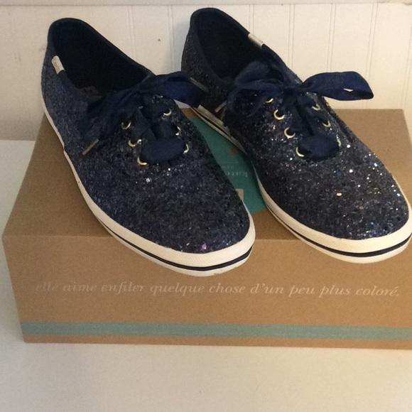 785f9715369e kate spade Shoes - Kate spade navy glitter keds 7.5M